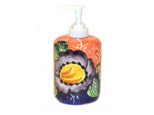 Soap Dispenser Flower Lemon Pink