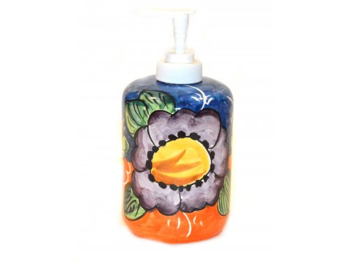 Soap Dispenser Flower Lemon Blue