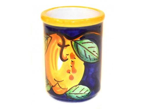 Bicchiere Porta Spazzolini Limone blu