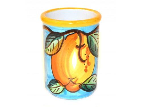 Bicchiere Porta Spazzolini Limone celeste