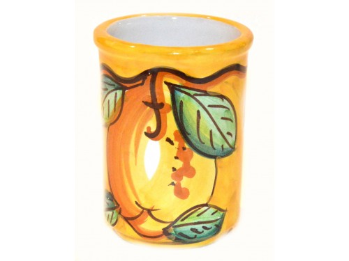 Bicchiere Porta Spazzolini Limone giallo