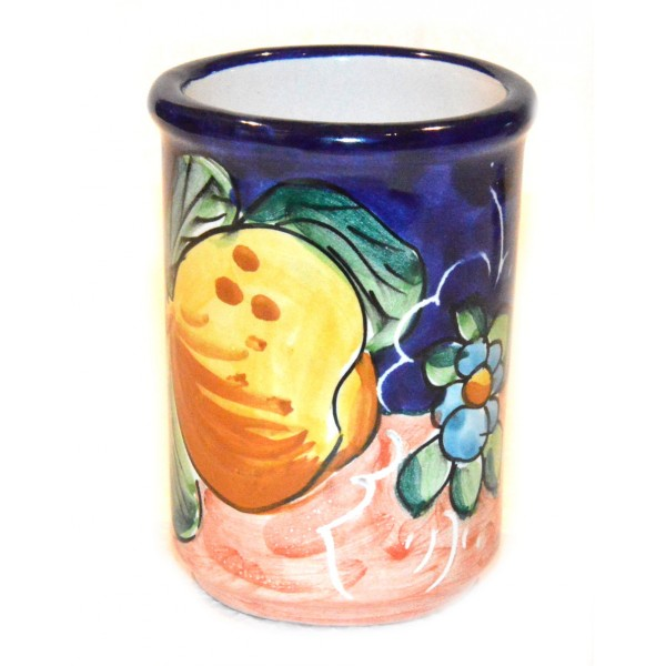 Toothbrush Holder Flower Lemon blue