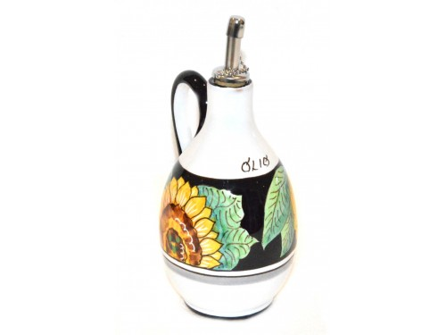 Oil Bottle Sunflower Lemon Black