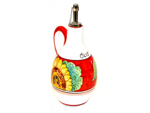 Oil Bottle Sunflower Lemon red