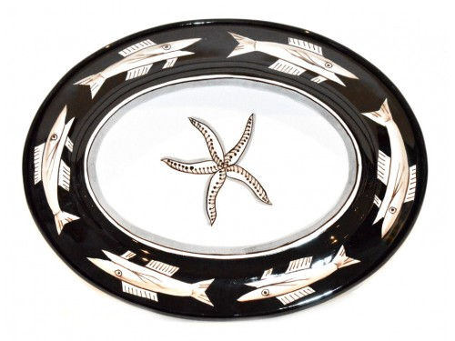 Oval Serving Platter Anchovies black (2 sizes)