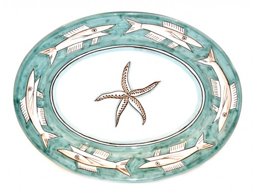 Oval Serving Platter Anchovies green (2 sizes)