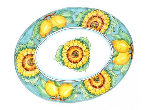Oval Serving Plate Sunflower Green (2 sizes)