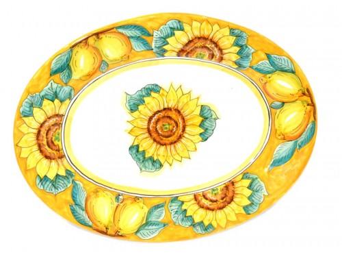 Piatto Ovale da portata Girasole giallo