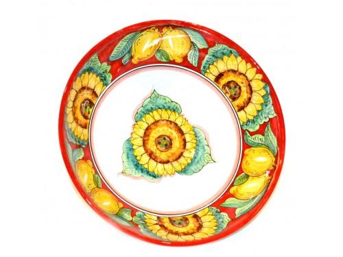 Serving Bowl Sunflower Lemon Red (3 sizes)