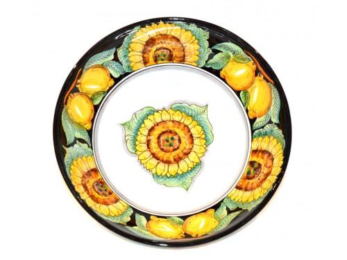 Serving Bowl Sunflower Lemon Black (3 sizes)