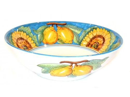 Bolo portata Girasoli e Limoni Celeste