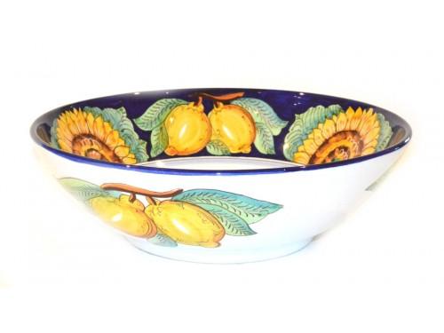 Serving Bowl Sunflower Lemon Blue (3 sizes)