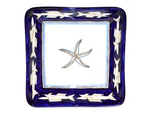 Square Bowl Anchovies Blue 11,80 inches (to serve - centrepiece)