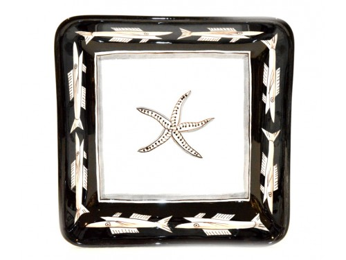 Square Bowl Anchovies Black 11,80 inches (to serve - centrepiece)