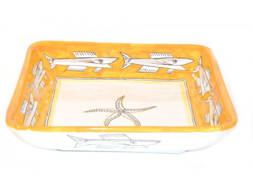 Square Bowl Anchovies yellow 11,80 inches (to serve - centrepiece)