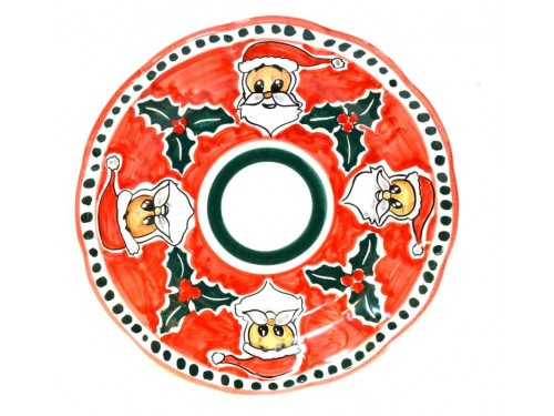 Christmas Plate Santa Claus (Dinner Plate)