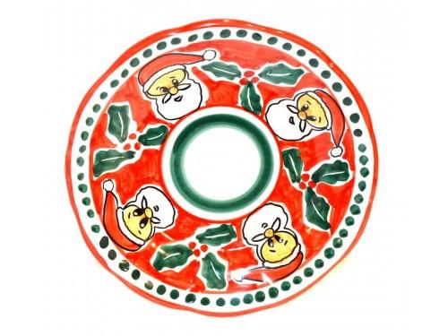 Christmas Plate Santa Claus (Salad Plate)