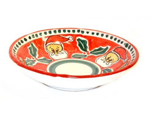 Christmas Soup Bowl Santa Claus