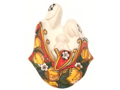 Natività in ceramica (da appendere o da esporre su uno stand)