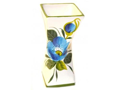 Vaso per tavolo fiori blu 19 cm