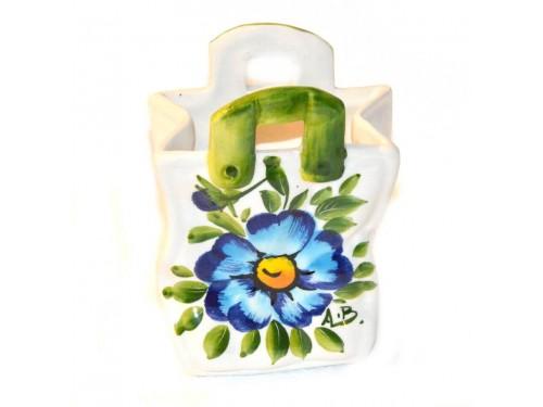 Bag Blue Poppies 5,50 inch (Vase - Utensil Holder)