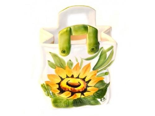 Bag Sunflowers 7,05 inch (Vase - Utensil Holder)