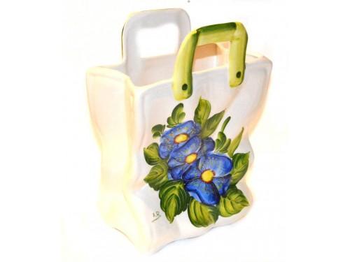 Bag Blue Poppies 11,80 inch (Vase - Utensil Holder)