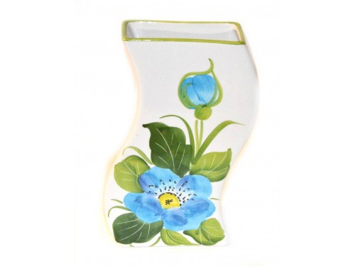 Vase for table Blue Poppies (7,85 inches)