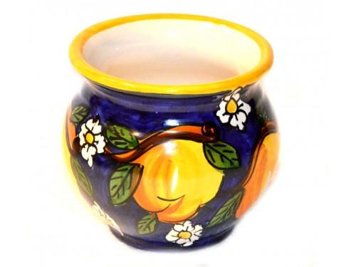 Porta fiori Limoni & Margherite Blu 12 cm