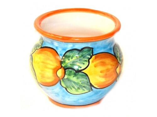 Porta fiori Limoni Celeste 12 cm