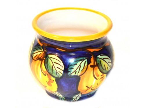 Porta fiori Limoni Blu 12 cm