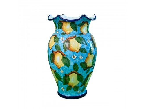 Vase Limoni Flowers Light Blue