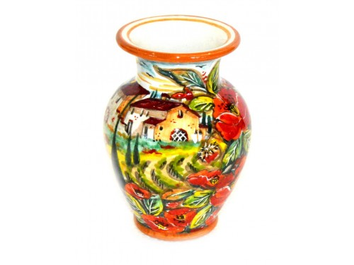 Vaso per tavolo veduta papaveri 15 cm
