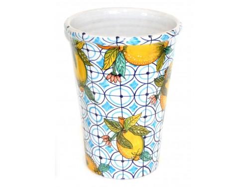 Vase - Ice Bucket Lemon Light Blue