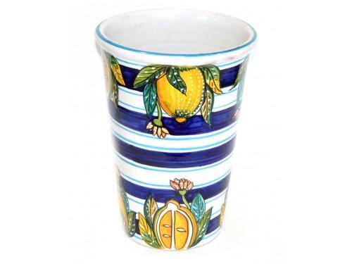 Vase - Ice Bucket Lemon Blue - White (last piece)