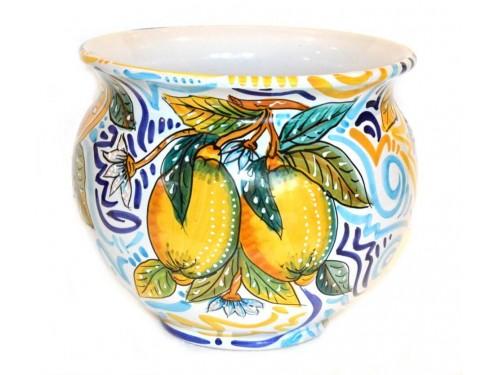 Plant Pot Modern Lemon (diameter 9,85 inches)
