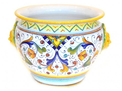 Plant Pot Classic with Lions (diameter 9,85 inches)