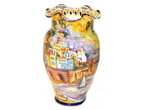 Vase Amalfi Positano Sunset geometric edge