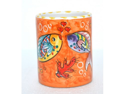 Bicchiere Pesci arancione