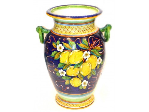 Vase with handle Lemon Blue (20 inches)