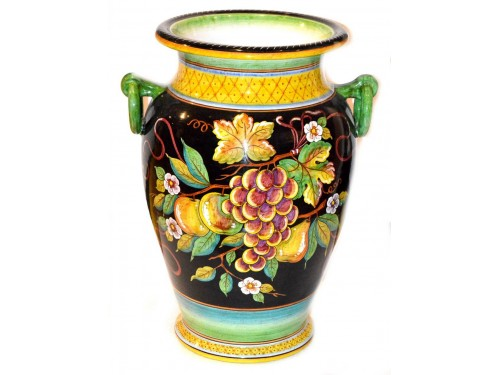 Vase with handle Mix Fruits Black (20 inches)