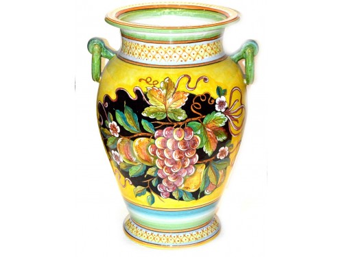 Vase with handle Mix Fruits Yellow Black (20 inches)