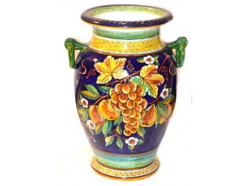 Vase with handle Mix Fruits Blue (20 inches)