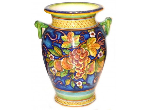 Vase with handle Mix Fruits Light Blue (20 inches)