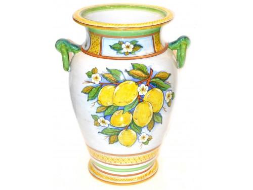 Vase with handle Lemon white (20 inches)