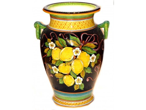 Vase with handle Lemon Black (20 inches)