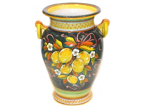 Vaso Limoni con manici verde 50 cm