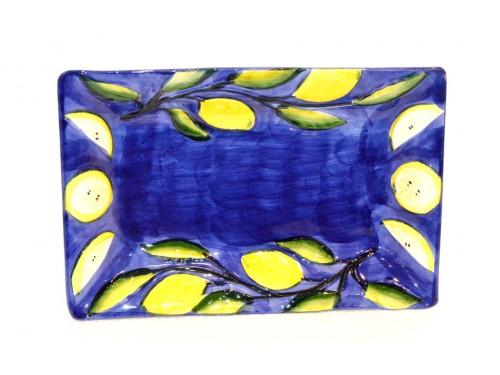 Rectangular Tray Lemon blue