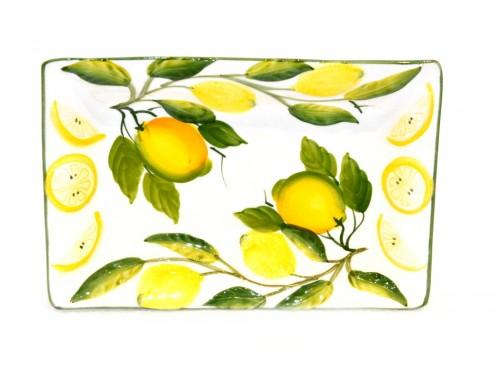 Rectangular Tray Lemon white