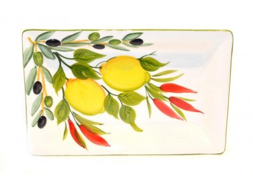 Rectangular Tray Lemon chilly pepper